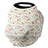 NOZAAM Nursing Covers Baby Car Seat Cover, Car Seat Canopy, Infant Stroller Cover for Baby Girls Boys, Infant Stretchy Cover for Baby Swing, Shopping Cart, Feeding High Chair (Multi) (Color: Multi)