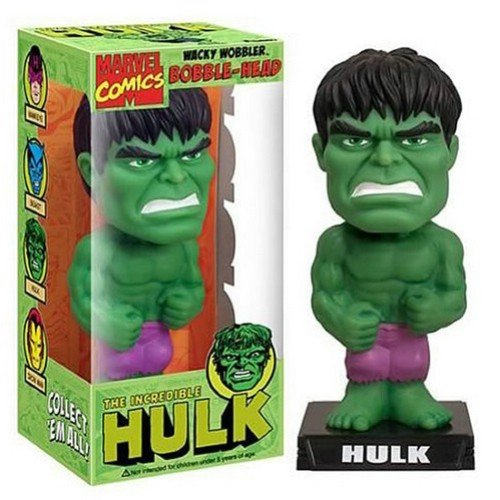Buy Low Price Funko Bobble Head Figure – Marvel Avengers – The Hulk (Wacky Wobble) (B0039CZLV4)