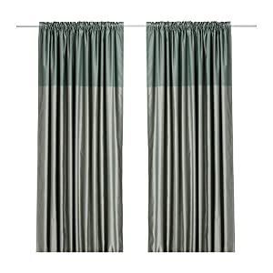 Ikea Dagny 57 By 98 Inch Blackout Window Curtain Pink Satin Finish Two Tone Luxury Pair Of
