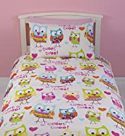 Owl & Heart Print Bedset