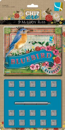 Gcd Studios Chip Art Alphabet Stamp and Punch Set, Bluebird Numbers and Glyphs 1/2-Inch