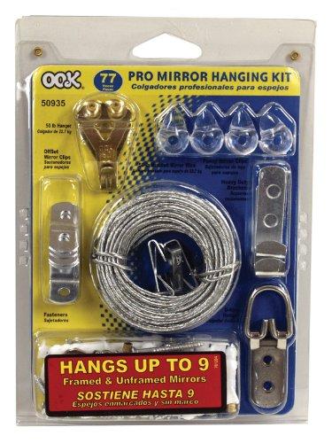 Ook 50935 77 piece mirror hanging kit hardware hardware for Mirror hanging kit