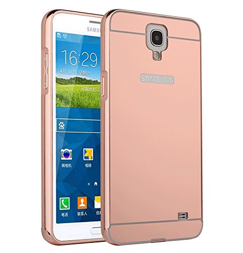 Galaxy Mega 6.3 I9200 Case, Ranyi [Mirror Series] Luxury Aluminum Metal Bumper Frame Detachable + Bling Mirror Hard Back Cover [Thin Fit & Slim] Case for Samsung Galaxy Mega 6.3 i9200 (rose gold) (Bumper For Samsung Mega compare prices)