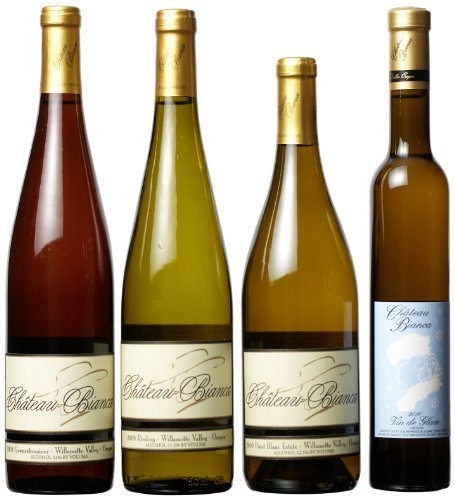 Chateau Bianca  Willamette Valley Cool White Wines Mixed Pack,1 x 375 mL, 3 x 750 mL,