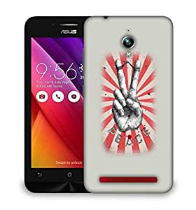 Snoogg Peace Designer Protective Back Case Cover For ASUS ZENFONE GO