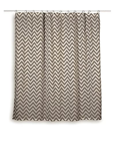 Rizzy Home Grey Chevron Shower Curtain