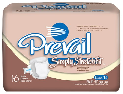 Prevail Simply Stretchfit Briefs, Large, Case Of 96
