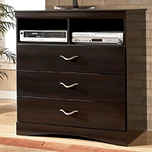 """Merlot Color Media Chest - Design by """"Famous Brand"""" Furniture"""