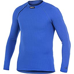 Craft Men\'s Active Extreme Long Sleeve Base Layer Crewneck Atlantic/Sweden Blue Large