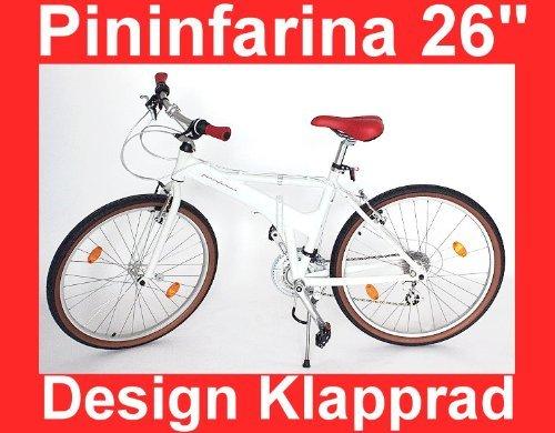 Designer Pininfarina City Klapp Fahrrad 26 Zoll Klapprad Faltrad Mountainbike