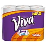 Viva Big Roll Paper Towels, White, 6 Rolls