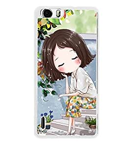 Cute Anime Cartoon Thinking 2D Hard Polycarbonate Designer Back Case Cover for Huawei Honor 6