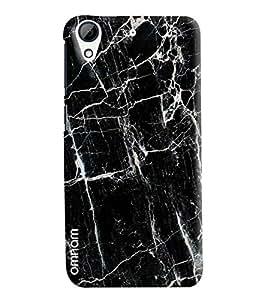 Omnam Black Background With White Nest Designer Back Cover Case For HTC Desire 626