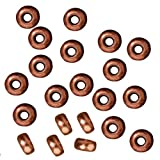 Copper Plated Lead-Free Pewter Disk Heishi Spacer Beads 3mm (50)