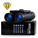 Merytes Binoculars with 10x25 Portable High Definition and Blue Film Daily Waterproof IPX3 by
