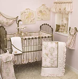 Lollipops and Roses Crib Bedding Set by Cotton Tale Designs