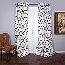 Lambrequin Casa Flocked Curtain Panel, 120