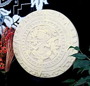"""HISTORY MAYAN AZTEC SCULPTURAL WALL RELIEF 15.5"""" Hand Made in USA by www.NEO-MFG.com"""