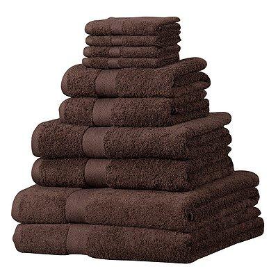 luxor-set-asciugamani-in-cotone-egiziano-100-10-pezzi-cioccolato