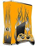 XBOX 360 SLIM SKIN – ORANGE FLAME