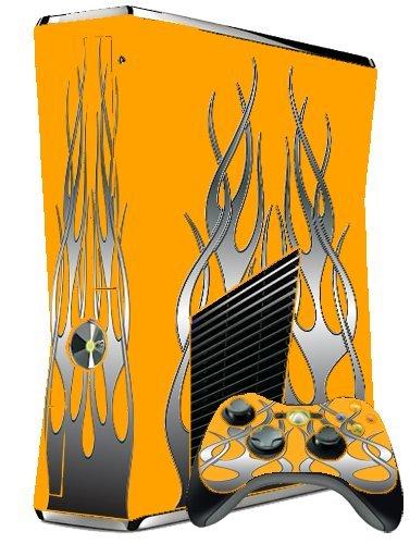 XBOX 360 SLIM SKIN - ORANGE FLAME