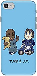 The Racoon Grip printed designer hard back mobile phone case cover for Apple Iphone 7. (Turk and J)