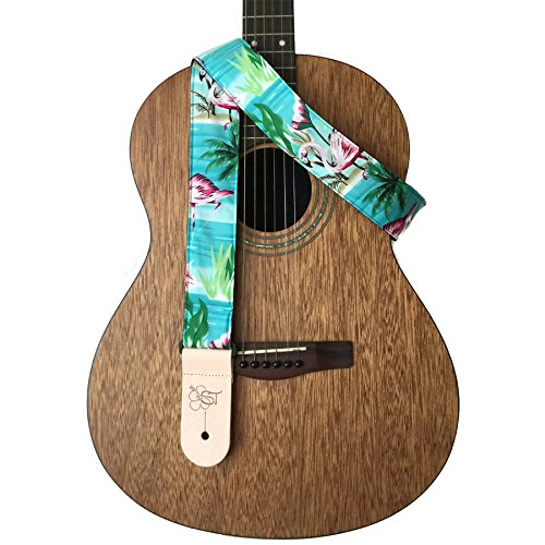 sherrins-threads-hawaiian-and-conversational-guitar-straps-flamingo-2-inch-nylon-guitar-strap