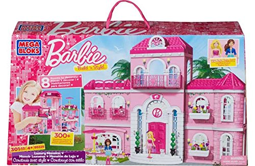 Mega Bloks Barbie Build-'n' Style Luxury Mansion. online bestellen