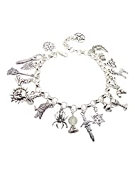 Wiccan/pagan Silver-plated Fully Loaded mk2 21 Charm Bracelet