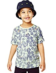 Pure Cotton Hawaiian Print T-Shirt