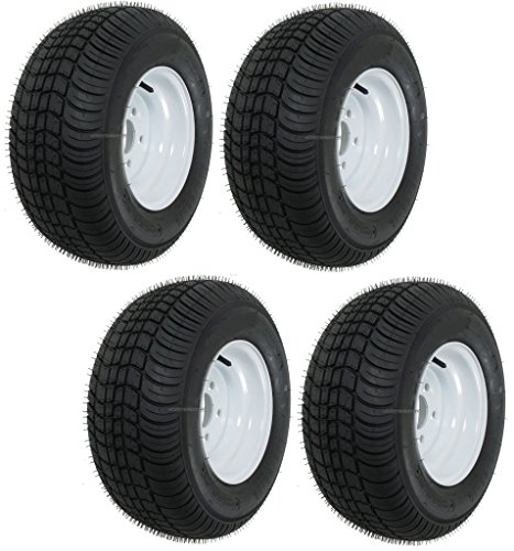 4 Trailer Tires & Rims 20.5 X 8 X 10 205/65-10 20.5/8-10 20.5/800-10 5Lug White (Trailer Tires 205 65 10 compare prices)
