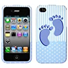 IPHONE 4 4S AT&t SPRINT VERIZON C-SPIRE BABY BOY 3D RUBBERIZED SNAP ON COVER CASE - PERFECT FIT