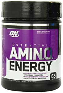 Optimum Nutrition Amino Energy 65 Servings, Concord Grape, 585 Grams