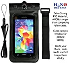 ** 66% OFF SALE ** Black H2NO® DRY BAG, Waterproof Case for Apple Iphone, Iphone 4S, Iphone 5, Samsung Galaxy and similar sized Mobile Devices. IPX8 Certified to 100ft Deep, TOP RATED PVC Soft Carrying Case for Iphone & Similar Mobile Devices. IPX8 Certified PVC Soft Case + Thermometer + Lanyard + Armband. Made of Strong PVC Material, MUCH STRONGER than competing cases. And No Need for a Stylus Pen for this Case - You can text, take pictures and everything using your finger! Color= BLACK.