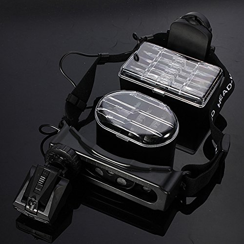 8 Lens Head-Wearing Headband Led Repair Magnifier Magnifying Loupe