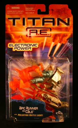 ARC RUNNER & CALE w/ Pulsating Battle Light TITAN A.E. Electronic Power 2000 Action Figure - 1