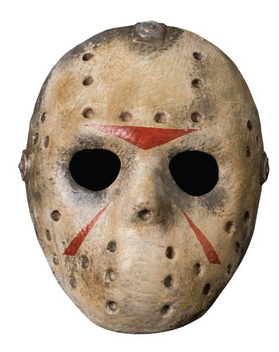Rubie's Costume Co Friday The 13th Jason Voorhees Deluxe Eva Hockey Mask, Gray, One Size