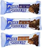 Pure High Protein Bar,Variety Pack (6 Chocolate Peanut Butter,6 Chewy Chocolate Chip,6 Chocolate Duluxe), 31.74 Oz (18 Count of 1.76 Oz bars)