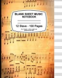 img - for Blank Sheet Music Notebook: Vintage Cover, Music Manuscript Paper,Staff Paper,Musicians Notebook 8 x 10,100 Pages book / textbook / text book
