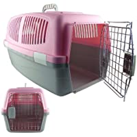 Travel Pet Carrier In Assorted Colours And Sizes (Pink, Medium)