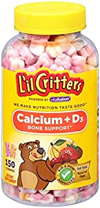 L'il Critters Calcium Gummy Bears with Vitamin D3,  150 Count (Flavor May Vary)