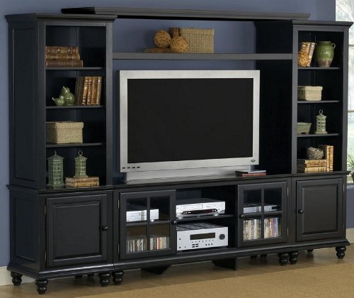 Cheap Entertainment Center Plasma TV Stand in Black Finish (HS-6123LEC)