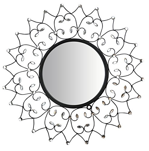 Lulu Decor, Web Wall Mirror, Decorative Metal Wall Mirror, Frame Size 27