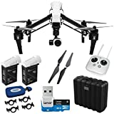 DJI Inspire 1 Quadcopter with 4K Video + Spare TB47B Intelligent Flight Battery + Lexar 32GB micro SDHC 633x Class 10 UHS-1 Memory Card + DJI Self Tightening Propellers + DJI Propeller Locks + Polaroid All-in-One Card Reader