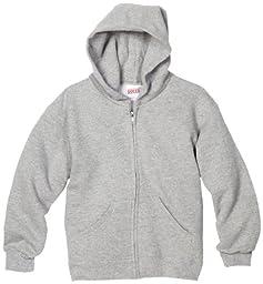 MJ Soffe Boys 8-20 Zip Hooded Sweatshirt, Oxford, X-Large