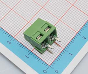 100pcs RoHS 2 Pin 2-way 5mm Pitch Screw Terminal Block Connector Panel PCB Mount