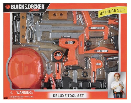 Black and Decker Deluxe Tool Set with Hardhat (Black And Decker Kids Tool Belt compare prices)