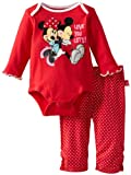 Disney Baby-Girls Newborn Minnie Bodysuit And Pant Set