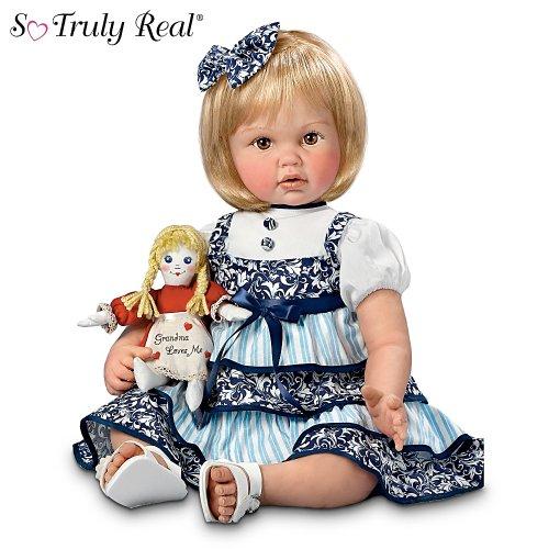 "Cheryl Hill My Grandma's Dolly: 22"" So Truly Real Baby Girl Doll by Ashton Drake"