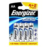 Energizer Ultimate Battery Lithium LR06 1.5V AA [Pack 6 For 4]by Fameart